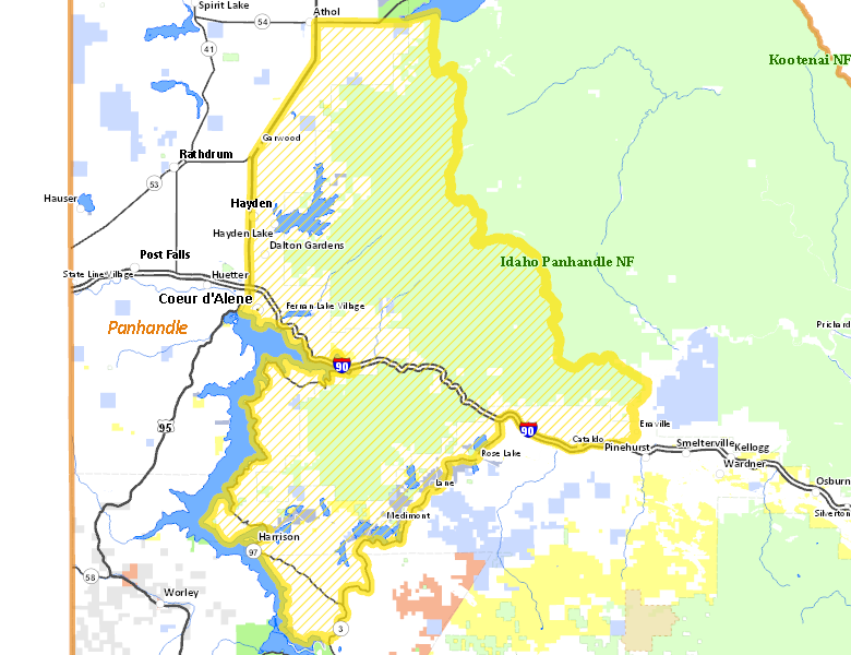 Hunt area idaho hunt planner for Idaho fish and game maps