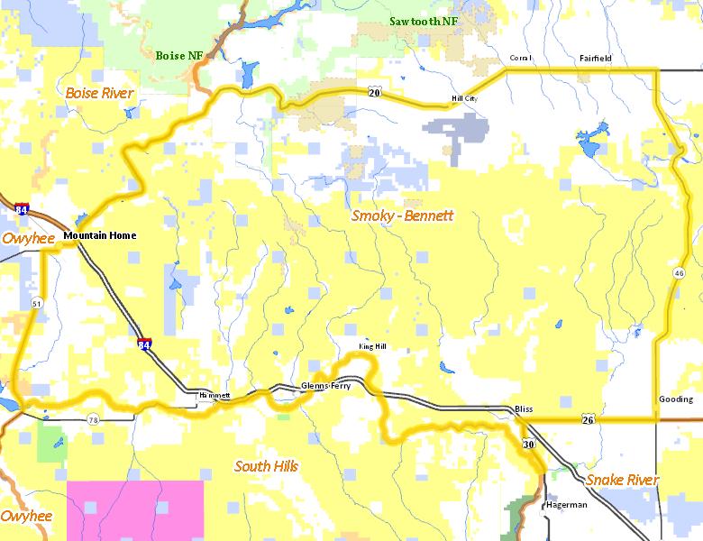 Unit Idaho Hunt Planner - Idaho public lands map