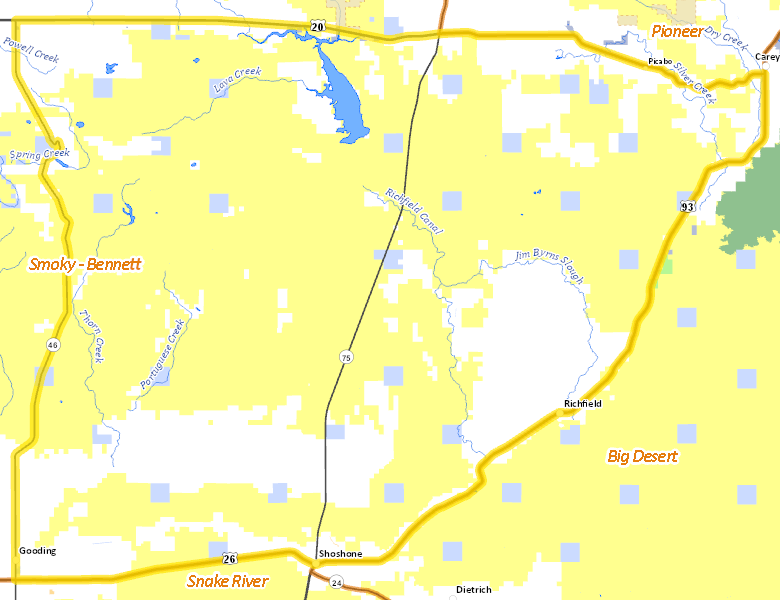Map of Hunt Area