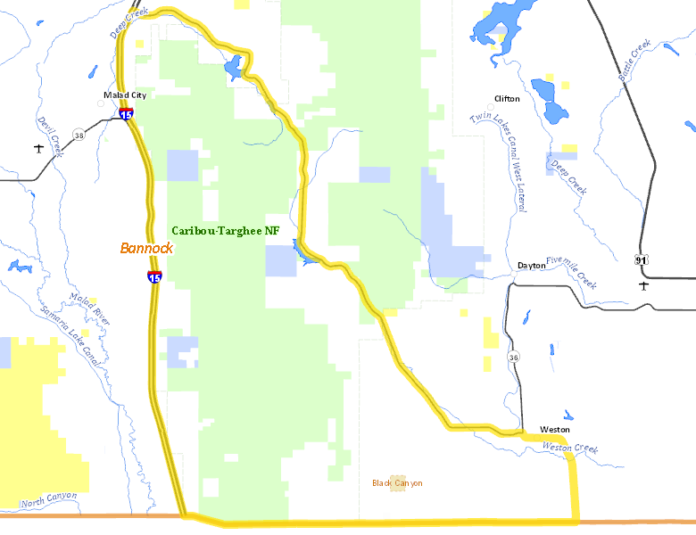 Hunt Area   Idaho Hunt Planner I Utah Road Map on i 15 california map, i 15 idaho map, i-15 south map, i 15 mile marker map, 15 freeway map,