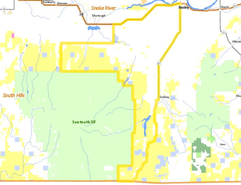 Albion Idaho Map.Hunt Area Idaho Hunt Planner