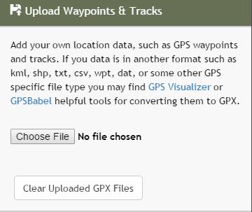 Upload Waypoints & Tracks