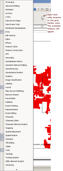 Adding and Moving ArcGis Toolbars | Idaho Fish and Game