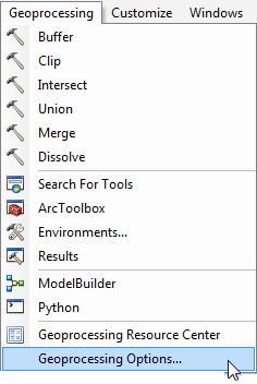 ArcGIS 10 x tip! Overwrite previous outputs from geoprocessing