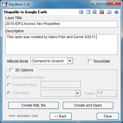 Shapefile to Google Earth kml - Customize Symbol Properties