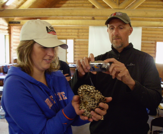 Project WILD teachers examine gopher snake
