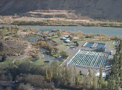 aerial view of Niagara Springs hatchery complex