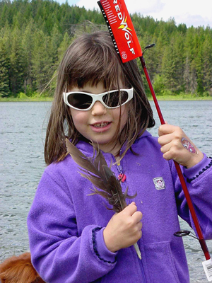 Free Fishing Day - Girl with New Pole