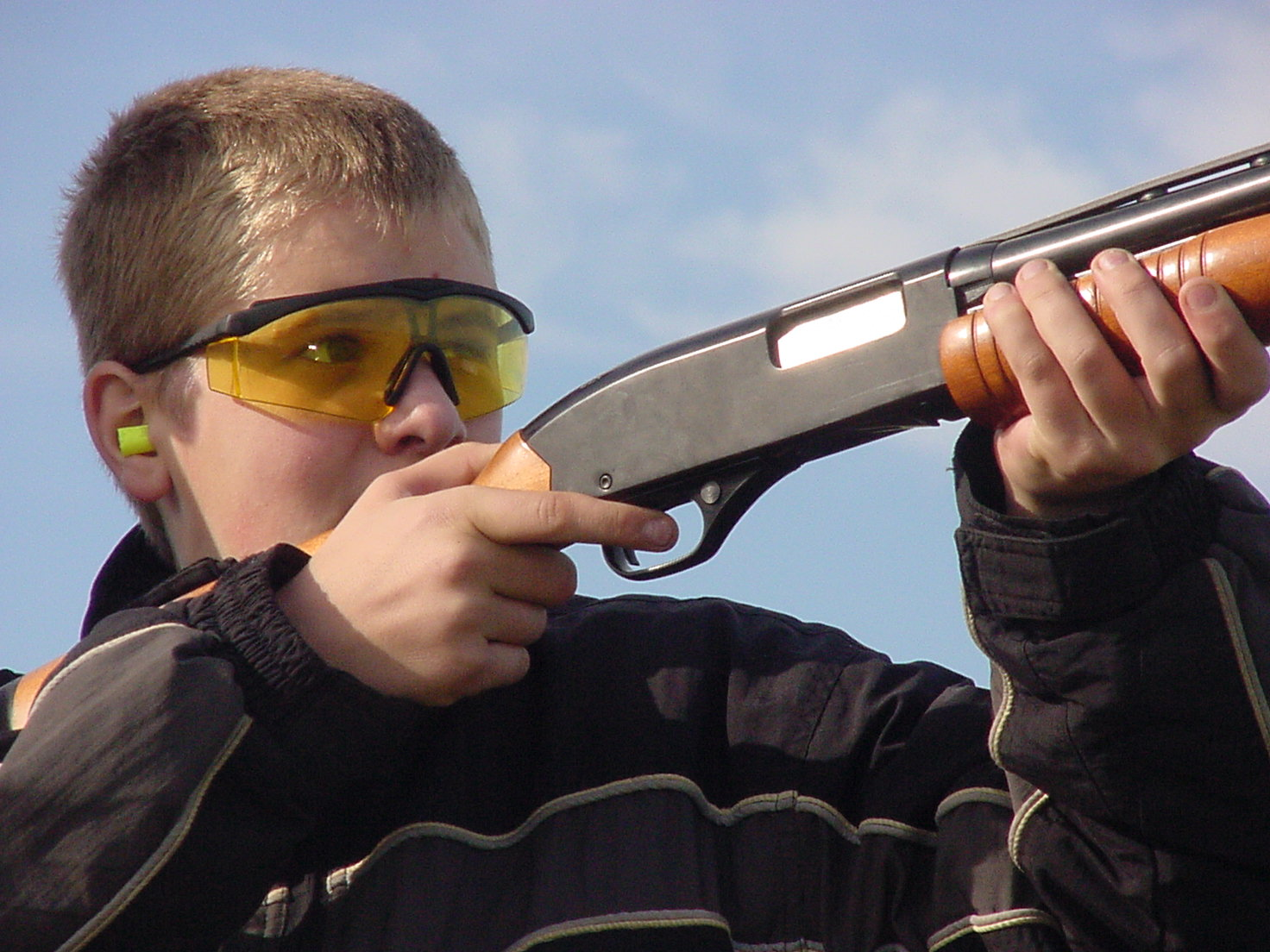 Youth at shooting range.