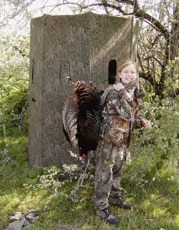 Young girl has a successful turkey hunt