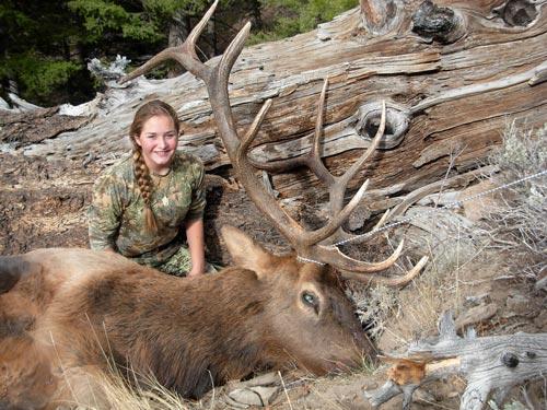 Janessa's first bull elk