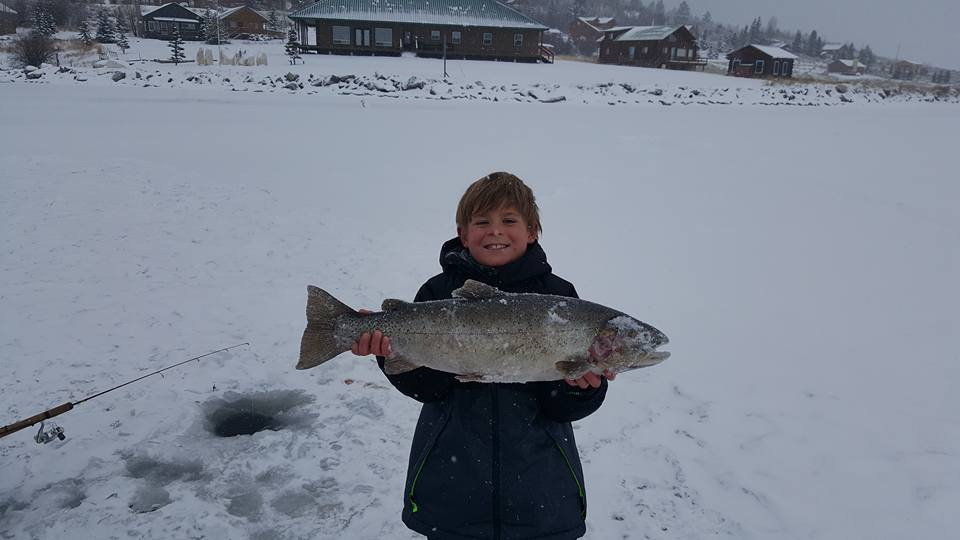 Great catch ice fishing at henrys lake idaho fish and game for Southeast idaho fishing report