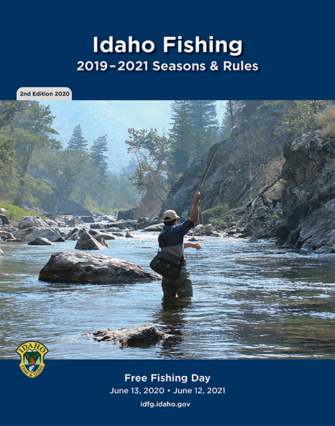 Idaho Fishing 2019-2021 Seasons and Rules booklet cover