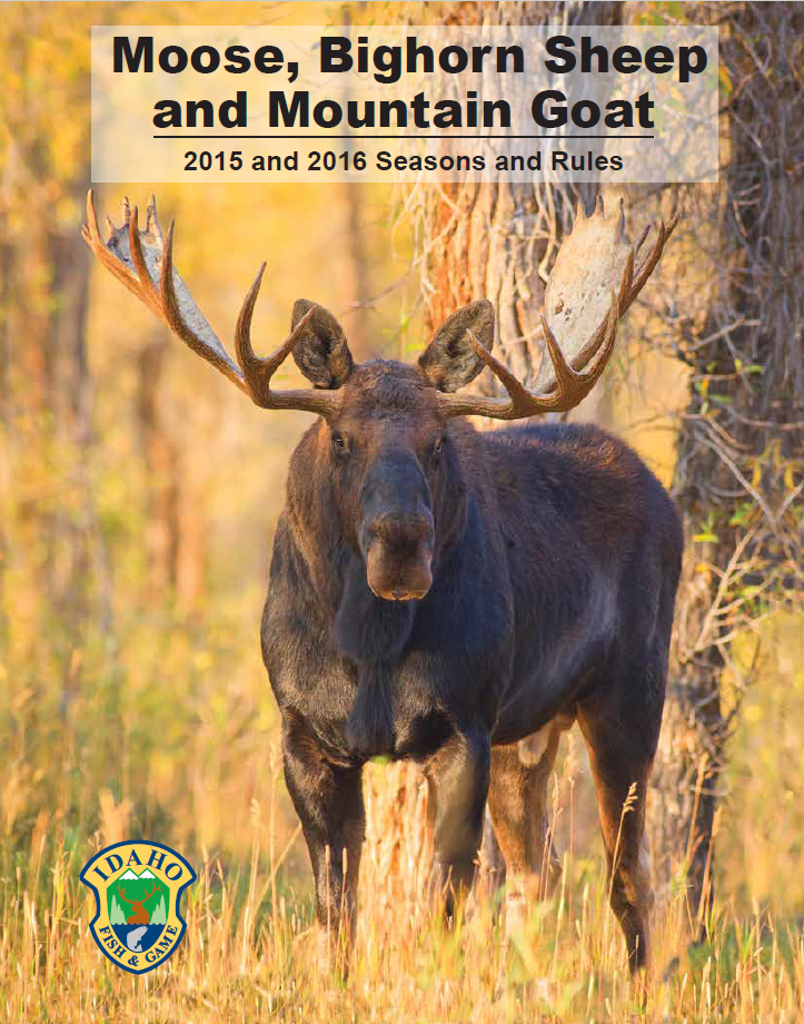 moose, sheep, and goat seasons and rules cover