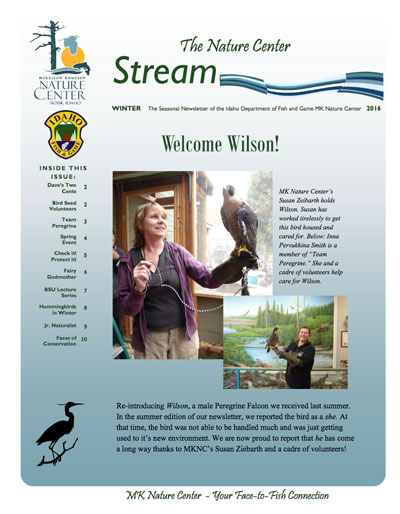 The MK Nature Center Stream Newsletter