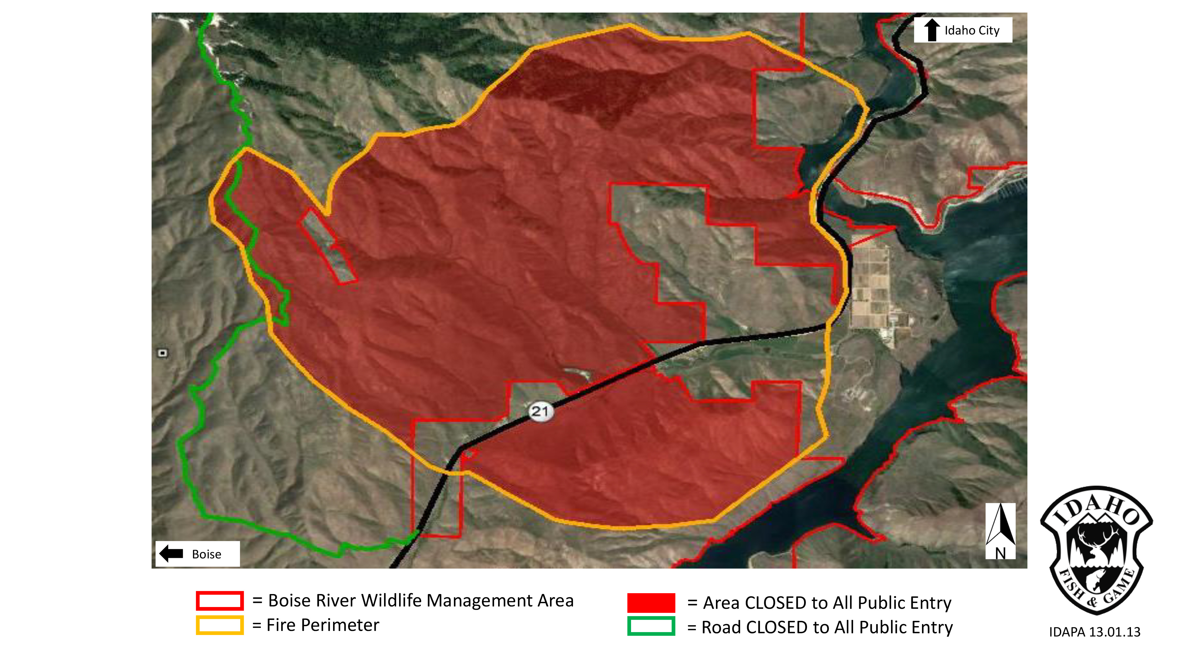 Mile Marker 14 Fire Closure Now In Effect Idaho Fish And Game