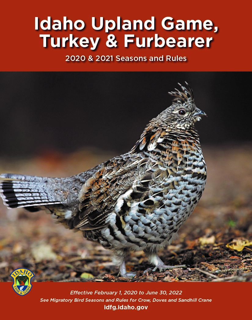 Idaho Upland Game, Turkey, and Furbearer Seasons Cover