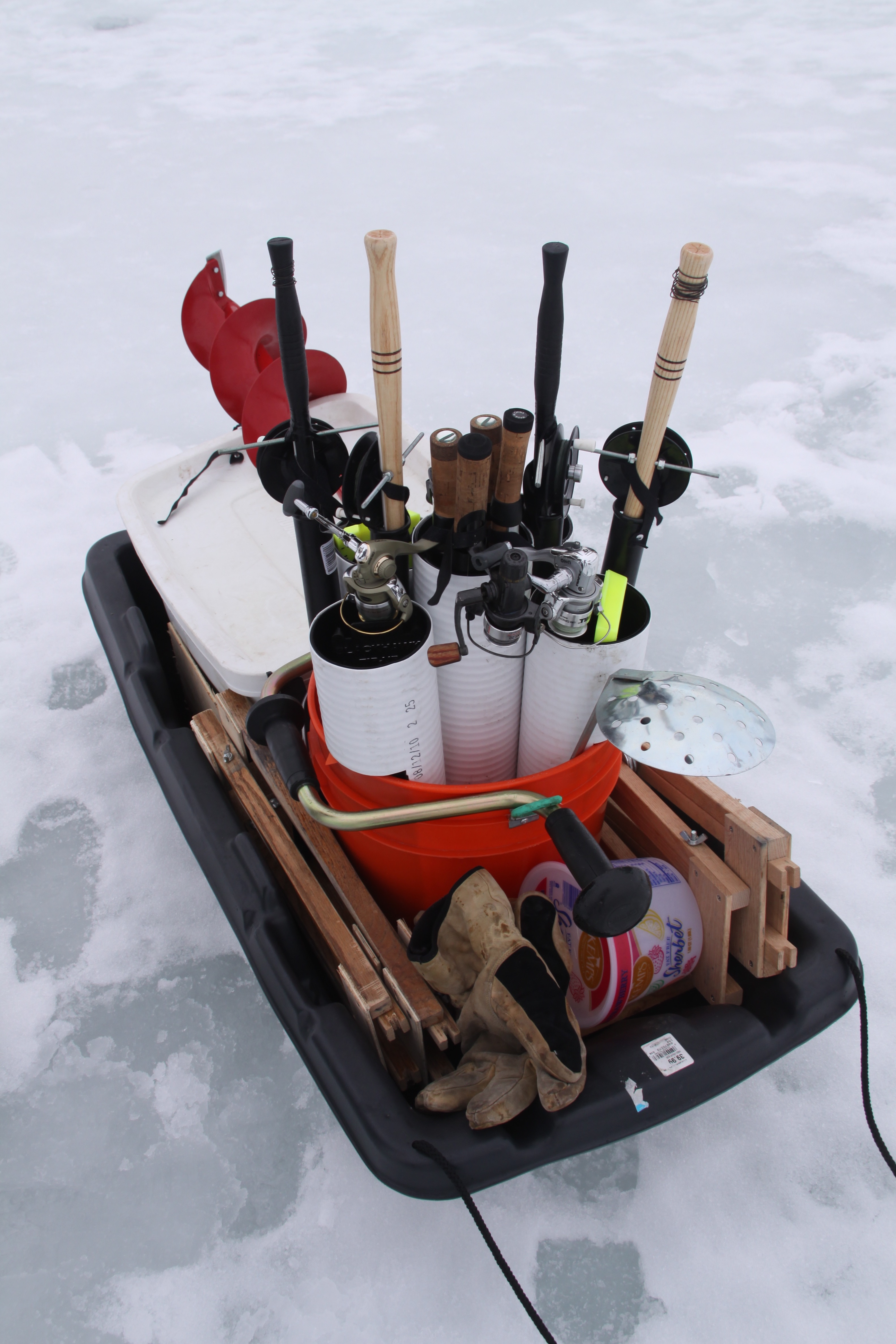 Ice fishing idaho s coolest angling opportunity for Ice fishing sleds