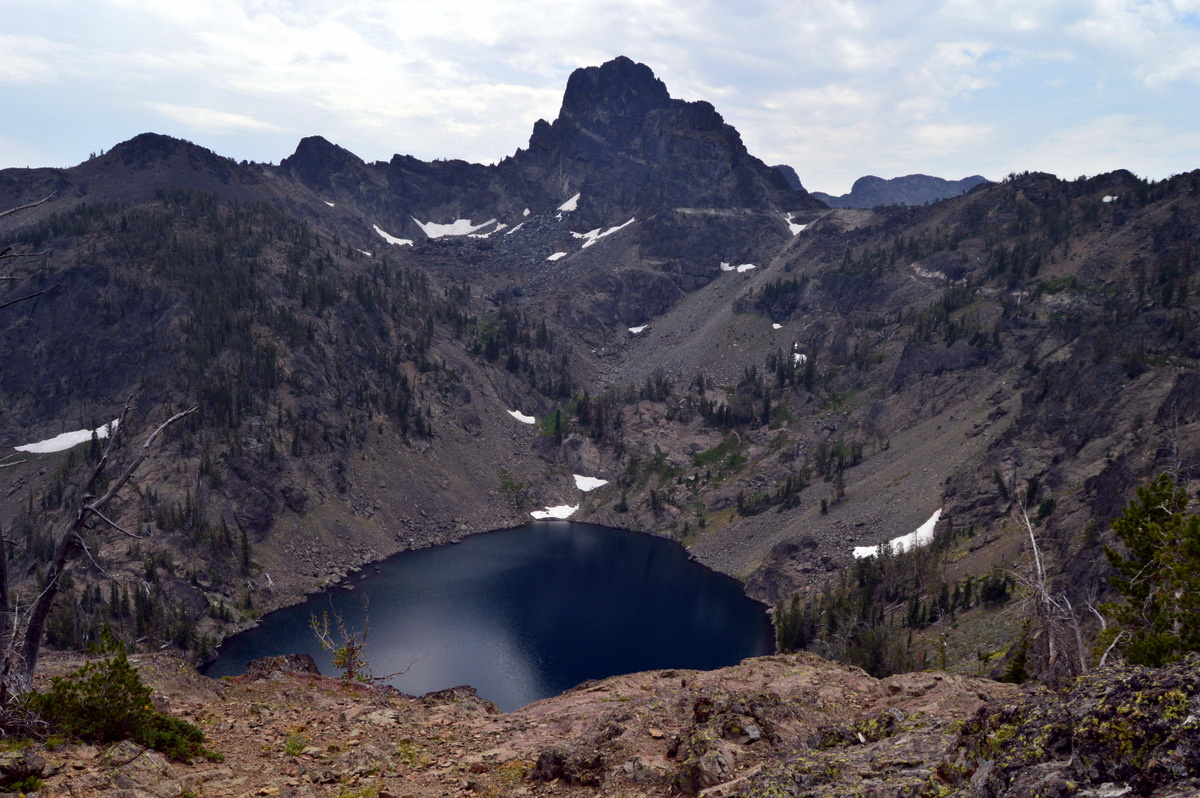 Alpine lake in the Idaho backcountry