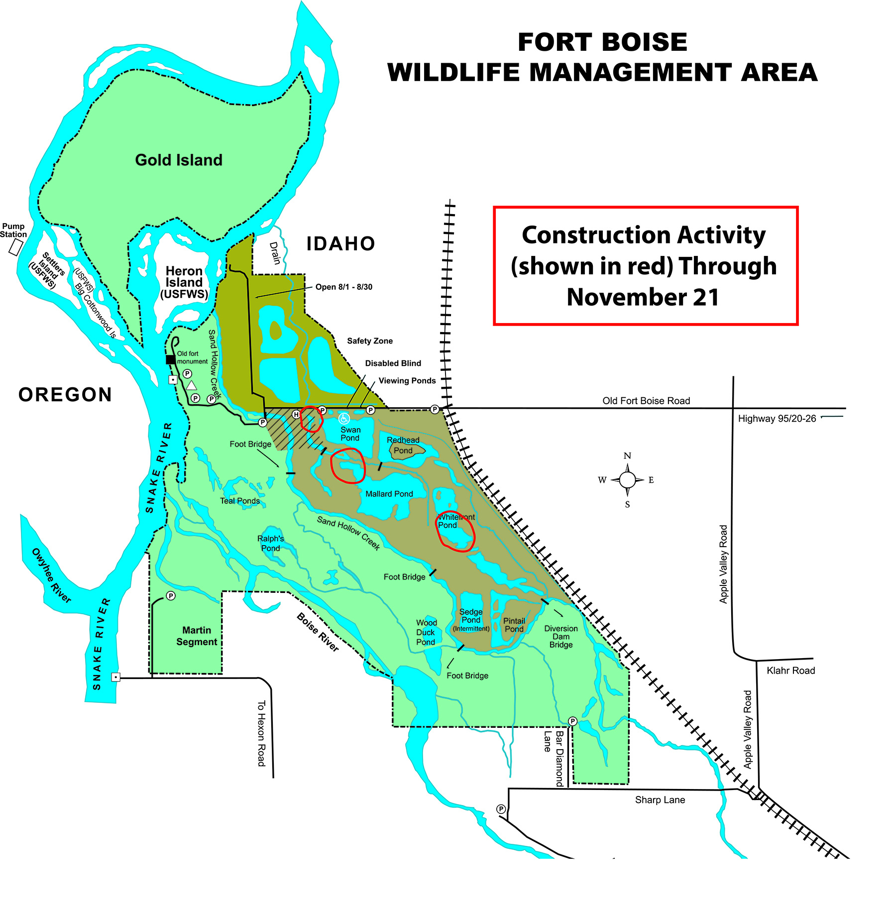 2020-11-16 Construction Activities at Ft. Boise WMA