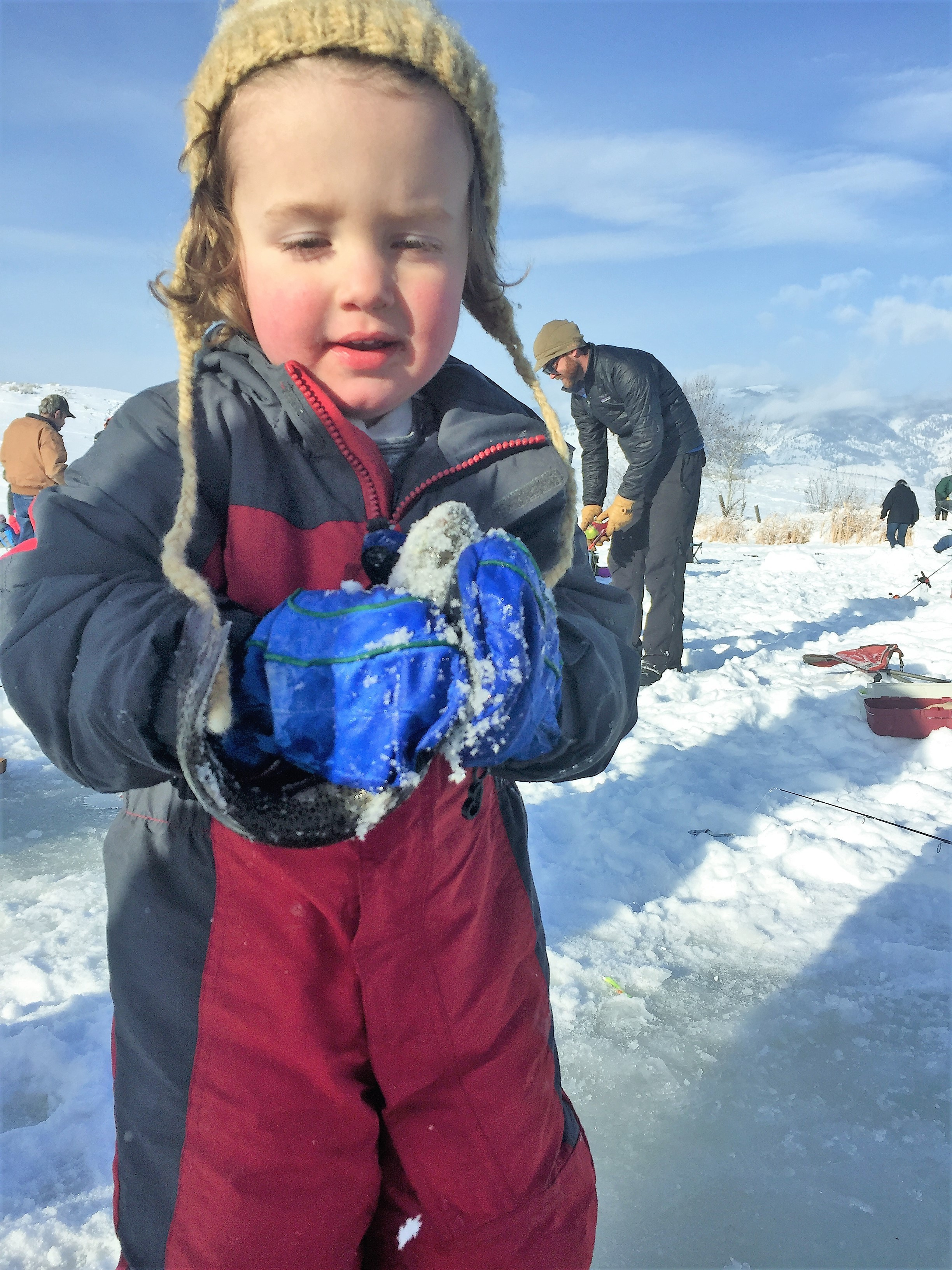 Hyde creek pond ice fishing derby idaho fish and game for Ice fishing expo