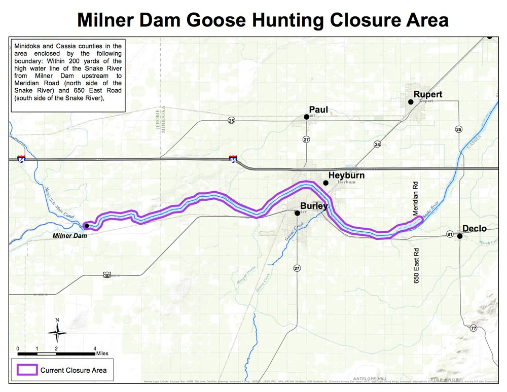 milner goose closure map