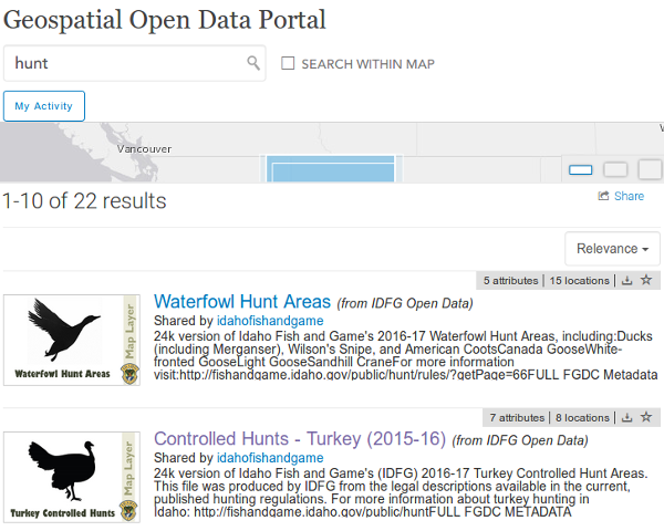 Open Data Screenshot