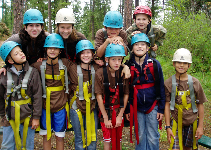 zip line, youth conservation camp