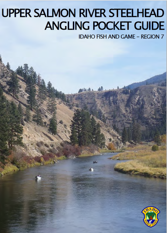 cover of upper salmon river steelhead angling pocket quide