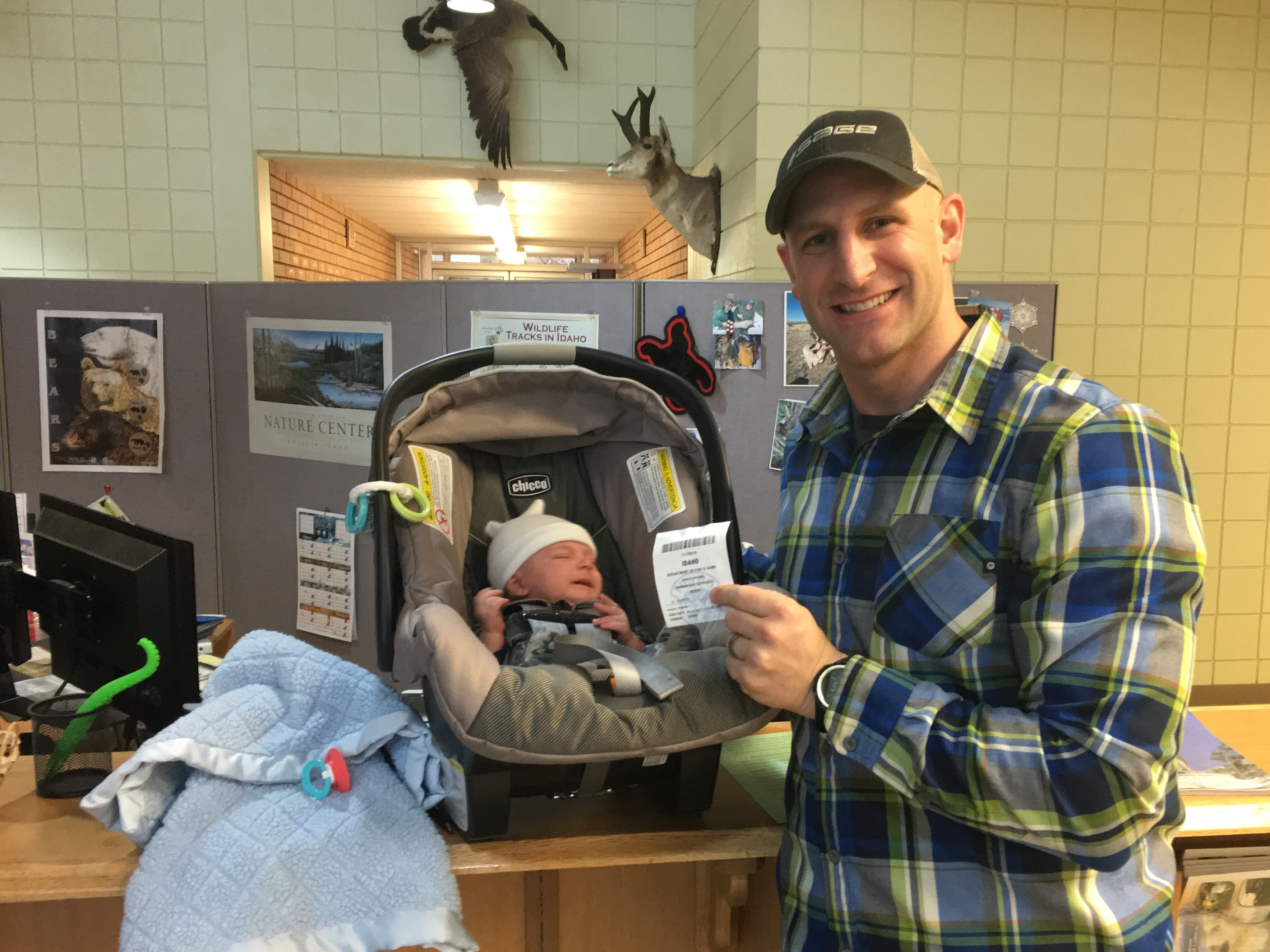 A lifetime license to hunt and fish idaho fish and game proud father joe romero buys lifetime license for his one month old publicscrutiny Images