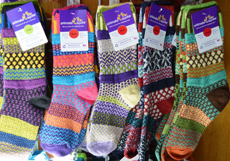 Solemate socks - made out of recycled yarns.