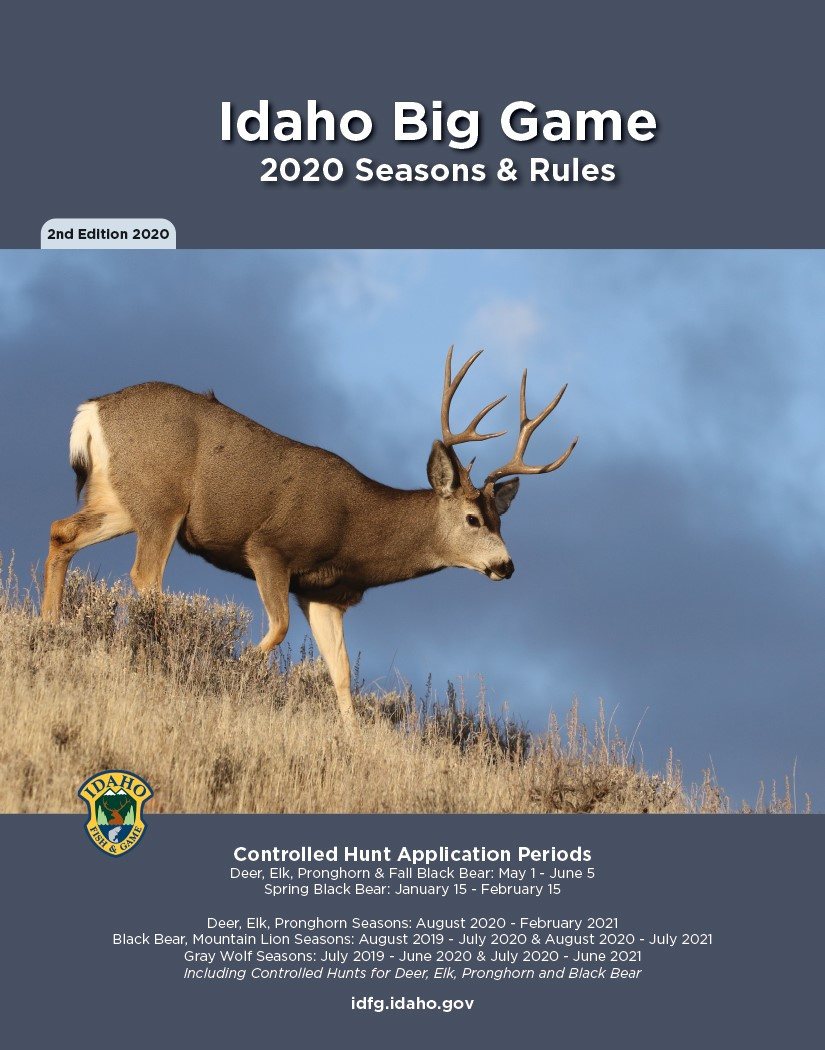 Big Game Seasons and Rules Cover Version 2