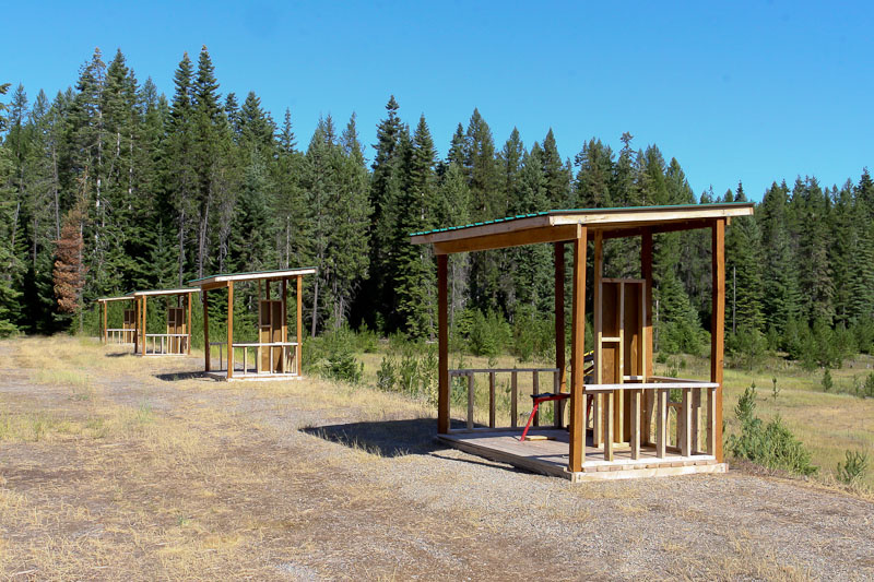 shooting and trap stations at Farragut Range wide shot