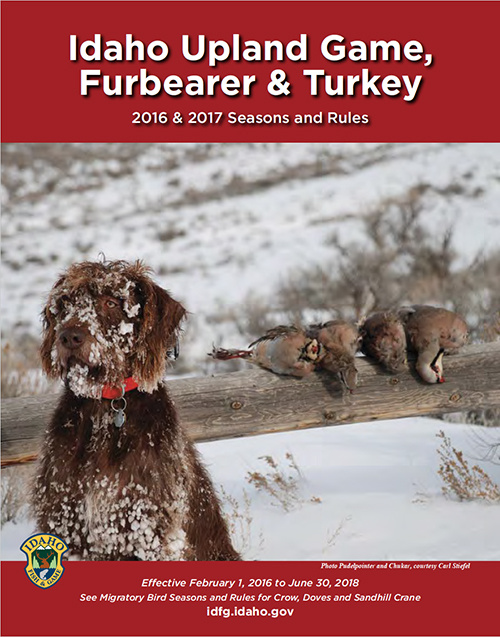 Upland Game Seasons and Rules booklet cover