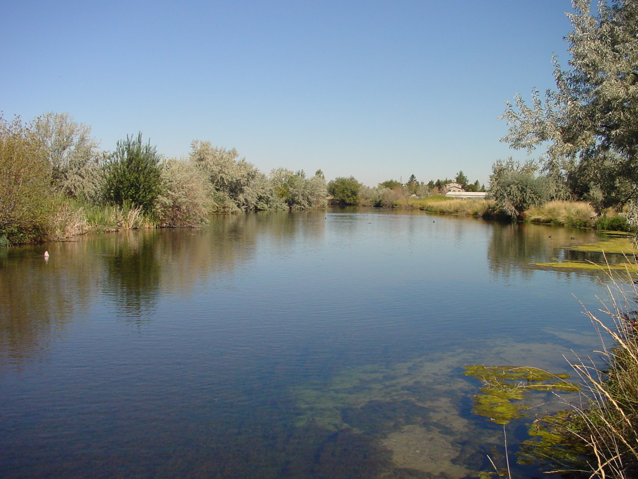 wide shot of North Wilson Pond near Nampa Idaho August 2004