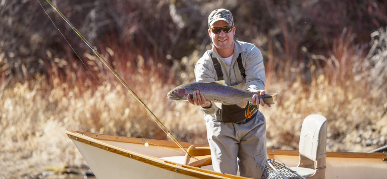 Kahle Becker steelhead fishing on the upper Salmon River in 2016
