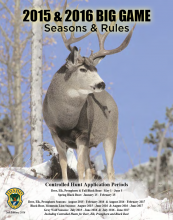 Big Game Seasons and Rules 2015 - 2016