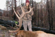 hunter with her trophy elk vertical shot November 2013