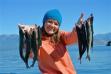 Kokanee salmon caught on Lake Pend Oreille