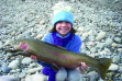 Ava with her steelhead March 2009