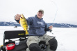 Idaho angler Sean Cluff ice fishing on Cascade Resrvoir in 2018