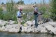 Checking fishing license
