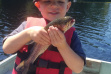 Kid with trout