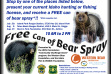 Bear Spray Event Flyer