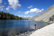 Alpine lake fishing, Idaho