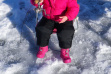 young girl catching her perch during Youth Ice Fishing Day January 2011