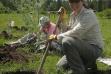 volunteers planting trees at Lawyers Creek