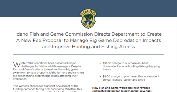 preview of handout for big game and access