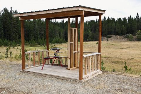 Farragut shooting range - clay target station