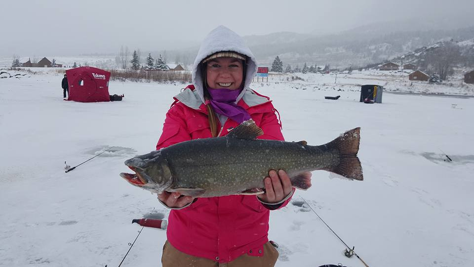 Great catch ice fishing at henrys lake idaho fish and game for Lake fishing games